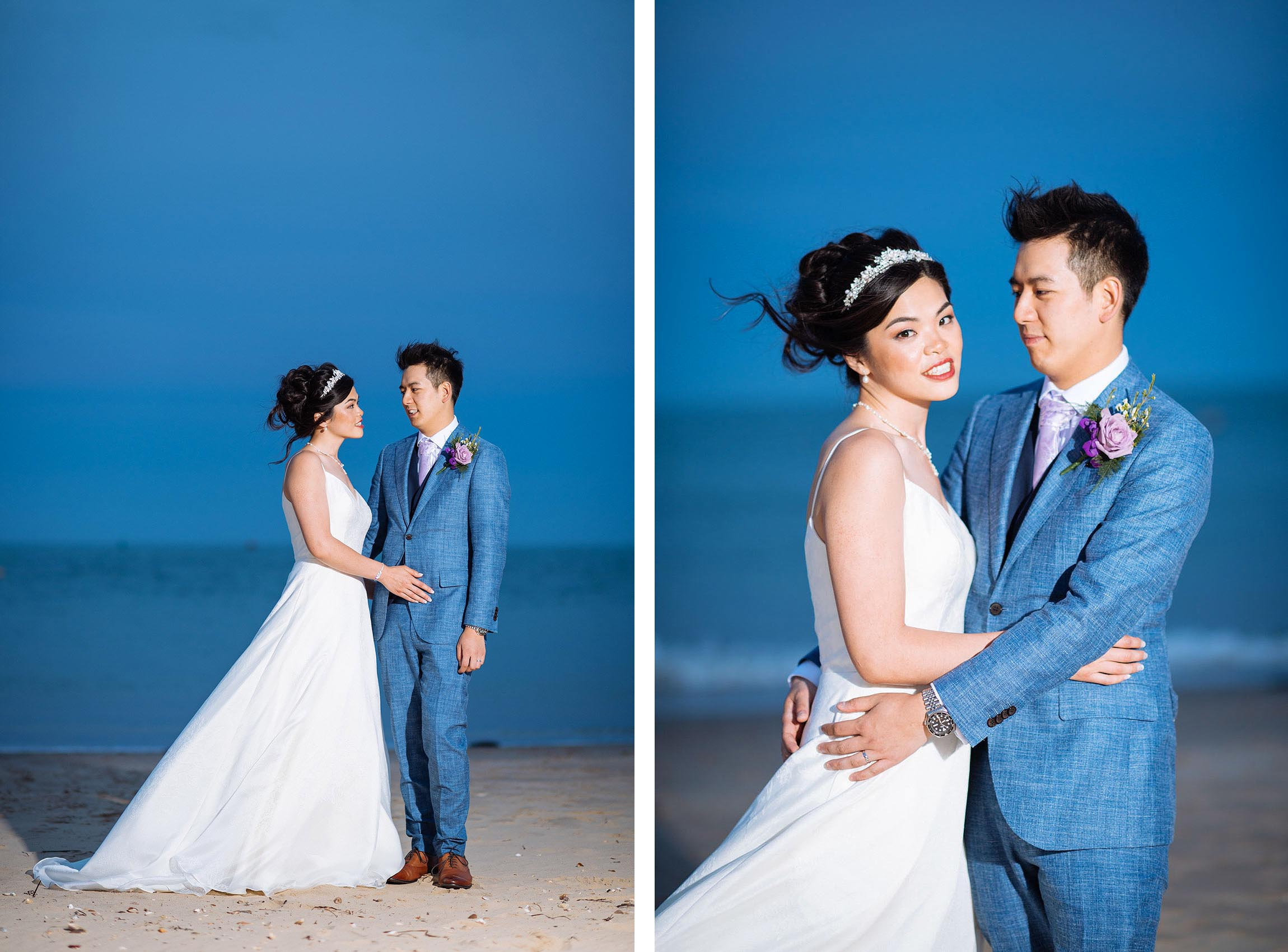 dorset-wedding-photographer-twilight-portrait-on-beach-profoto