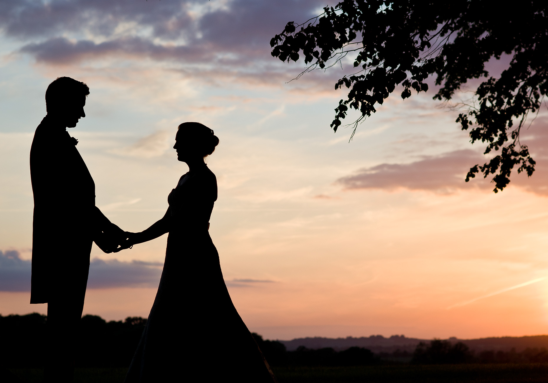 emma-summer-sunset-silhouette-together-wedding-night-hampshire-photographer-15