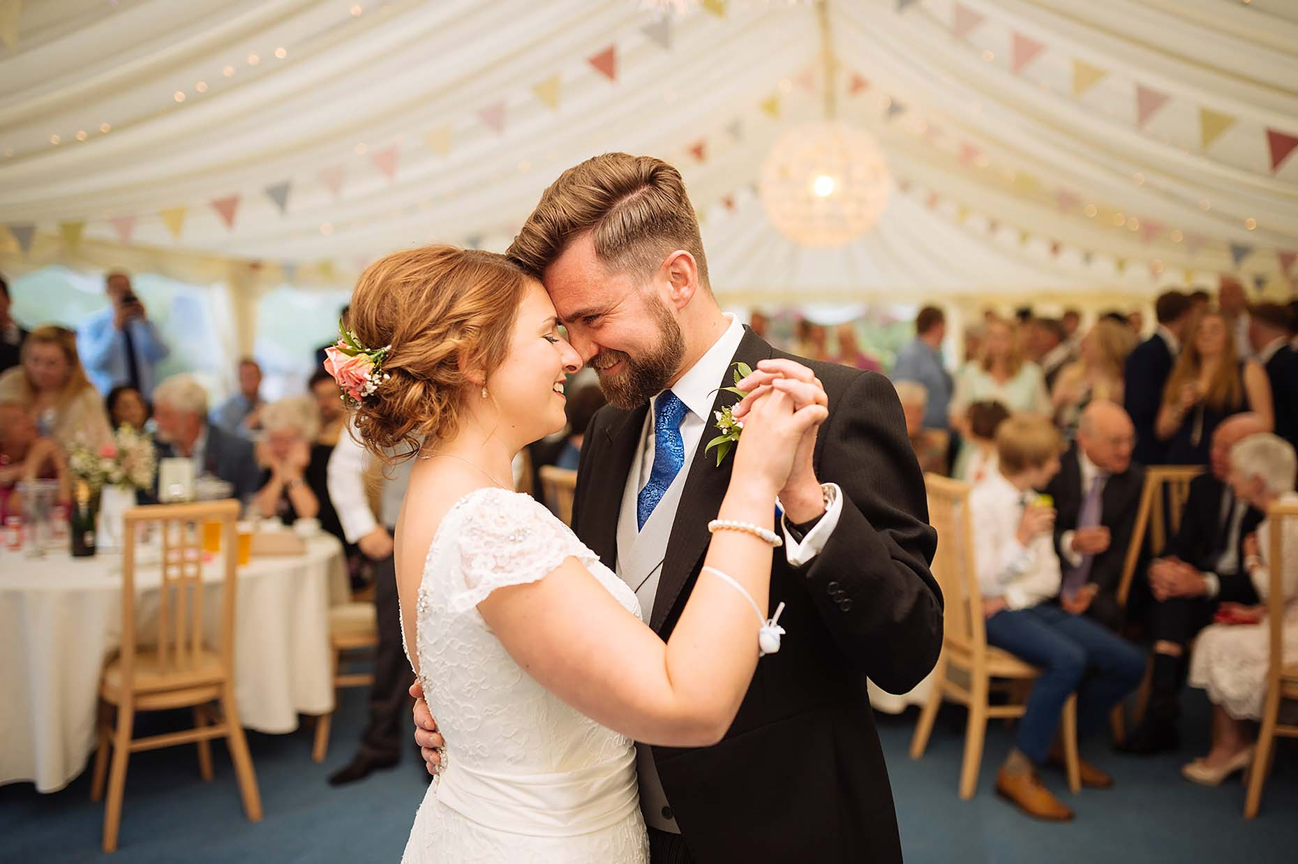 first-dance-wedding-dorset-marquee-tender-love-holding-hands-23