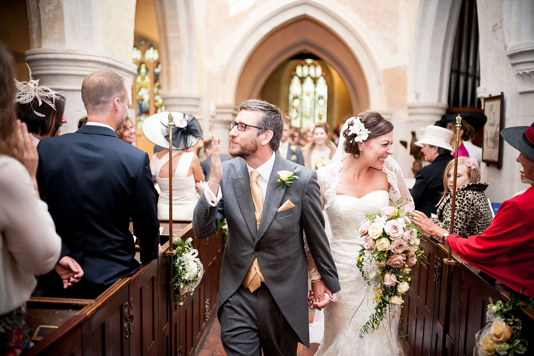 happy-couple-walk-down-aisle-church-wedding-love-devon-33