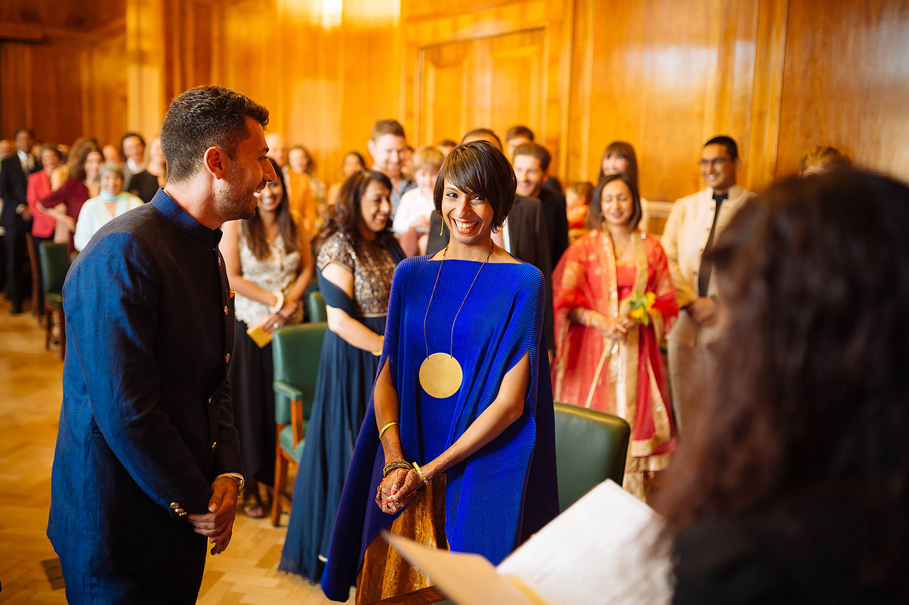 indian-wedding-hackney-town-hall-london-ceremony-bride-blue-dress-22