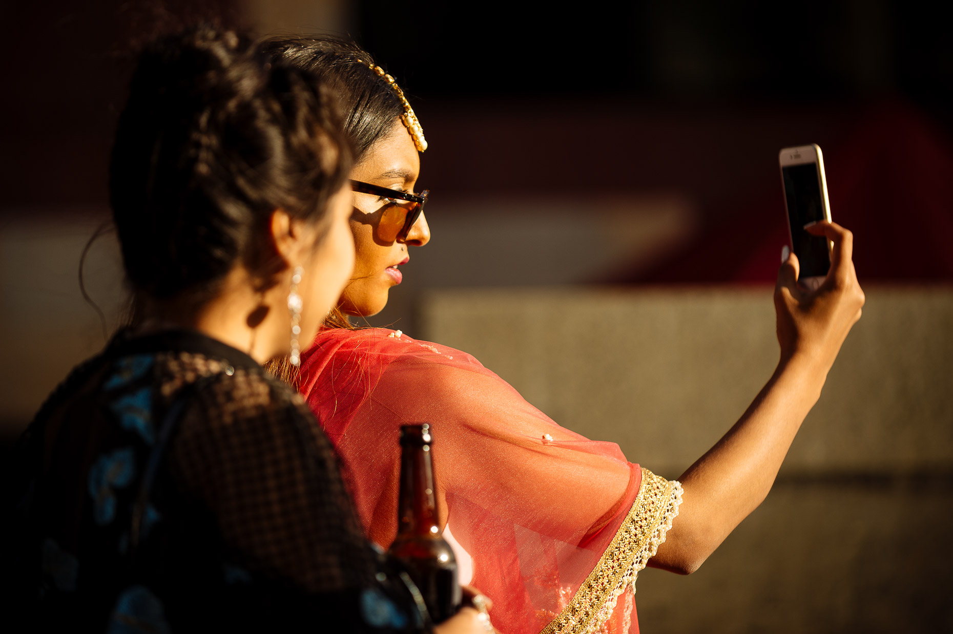pooja-dan-v-and-a-museum-childhood-selfie-guests-reception-wedding-photography-17
