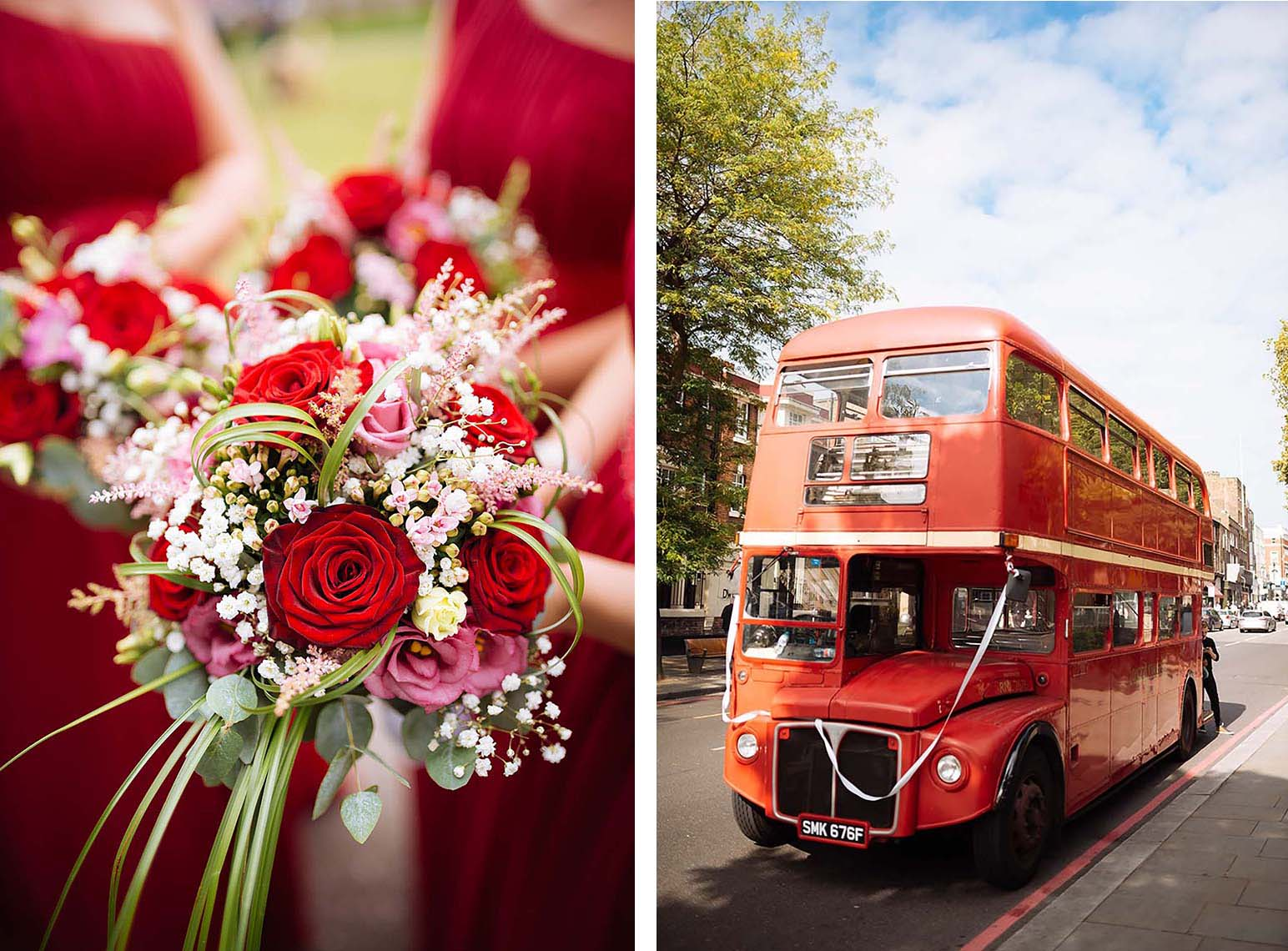 red-bus-london-flowers-transport-wedding-street-10