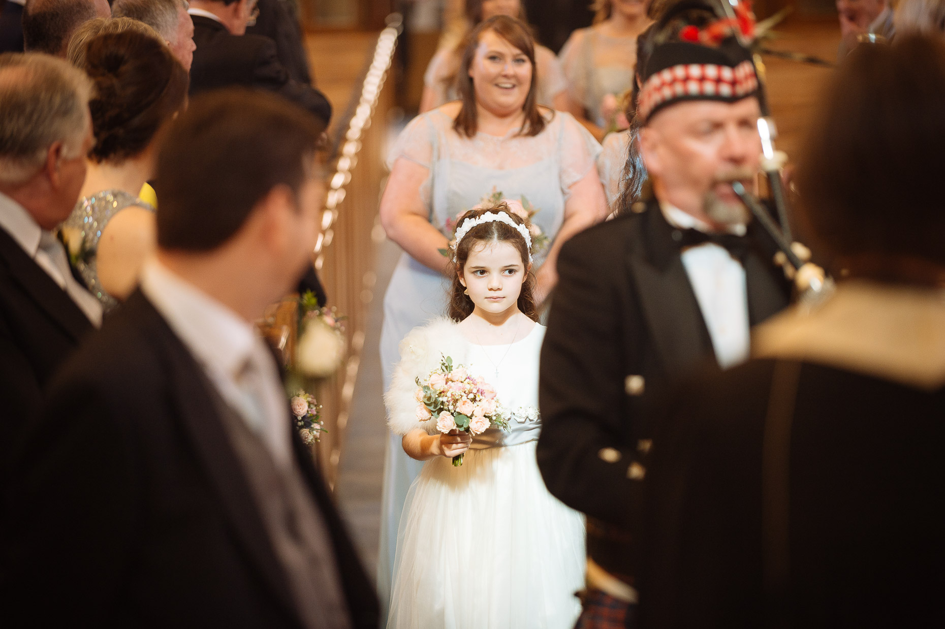 st-columba-church-wedding-flowergirl-aisle-london-photo-08