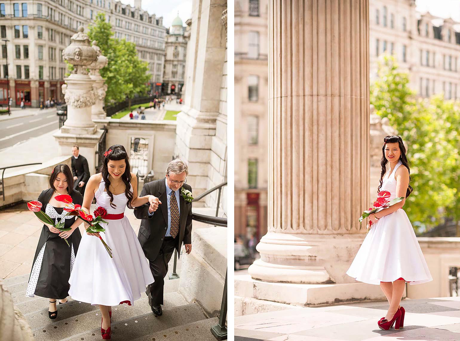 st-pauls-cathedral-wedding-photography-bride-arriving-london-10