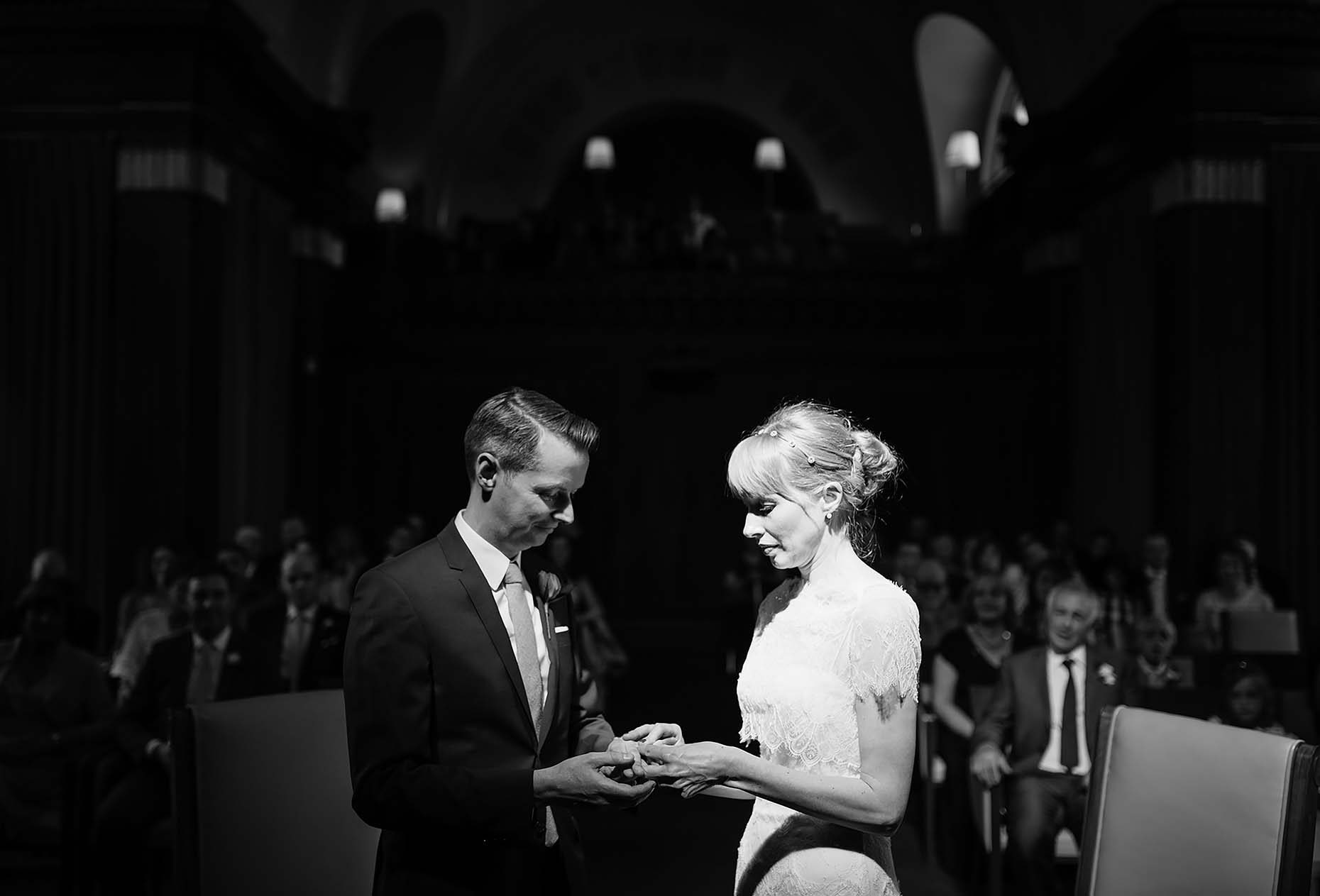 wedding-ceremony-stoke-newington-town-hall-mono-black-white-photography-london-20