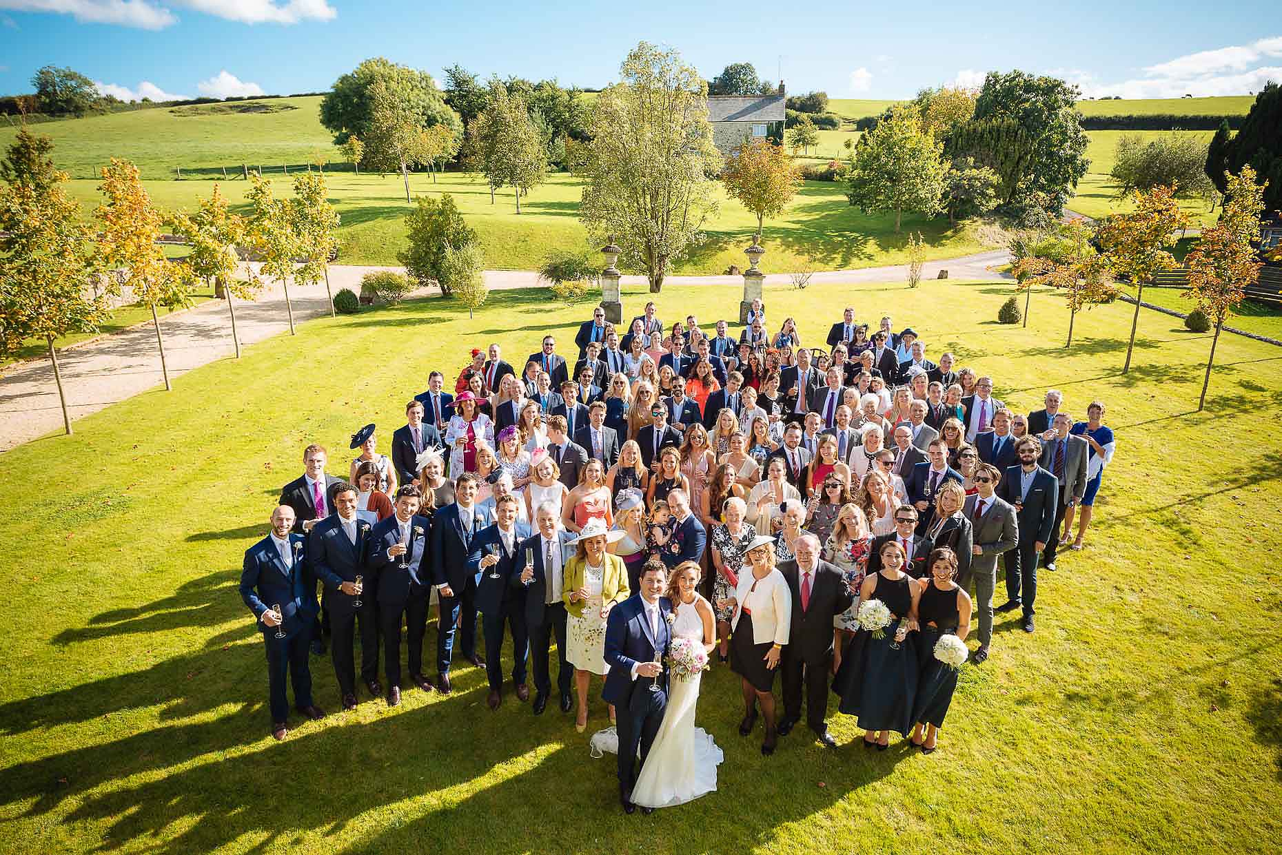 wedding-group-shot-outdoors-dorset-18