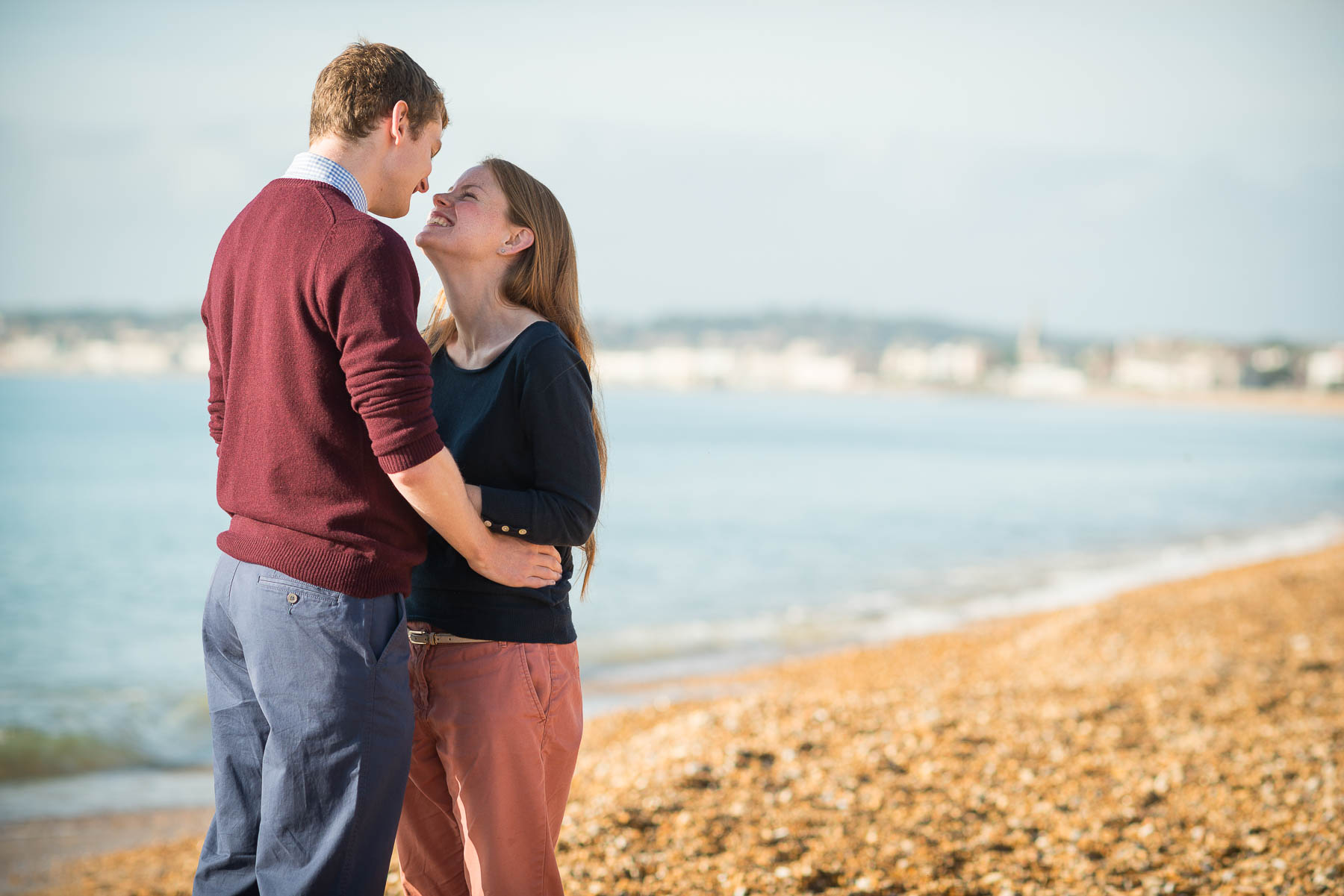 weymouth-beach-gordon-engagement-shoot-happy-couple-in-love-11